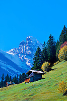 The Gspaltenhorn in the Swiss Alps seen from Murren, Canton Bern, Switzerland