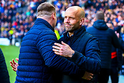 Mansfield Town manager David Flitcroft and Milton Keynes Dons manager Paul Tisdale share a hug before kick off - Mandatory by-line: Ryan Crockett/JMP - 04/05/2019 - FOOTBALL - Stadium MK - Milton Keynes, England - Milton Keynes Dons v Mansfield Town - Sky Bet League One