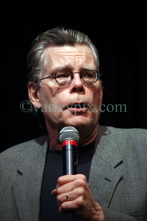 12 Nov 2011. New Orleans, Louisiana, USA.  <br /> Author Stephen King. The world famous author of over 50 novels, over 350 million books sold visits the Academy of Sacred Hearts Nims fine art center where over 1,300 people crammed in to hear him speak, read, entertain and take questions. King is promoting the release of his latest book 11/22/63. (JFK Slain in Dallas LBJ Takes Oath). King's first visit to New Orleans organised by Octavia Books.<br /> Photos; Charlie Varley/varleypix.com