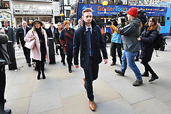 © Licensed to London News Pictures. 28/02/2017. London, UK. Relatives arrive at the Royal Courts of Justice in London where Judge Nicholas Loraine-Smith is due to hand down a ruling on the cause of death of 30 Britons gunned down by Seifeddine Rezgui, on a beach in Sousse, Tunisia.  Photo credit: Ben Cawthra/LNP