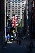 British clothing manufacturer export Ben Sherman, in Soho, New York City.