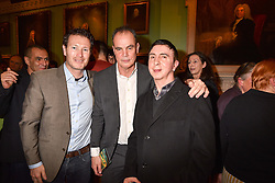 Left to right, Nick Moran, Jake Arnott and Marc Almond at a party to celebrate the publication of The Fatal Tree by Jake Arnott held at The Foundling Museum, 40 Brunswick Square, London, England. 22 February 2017.