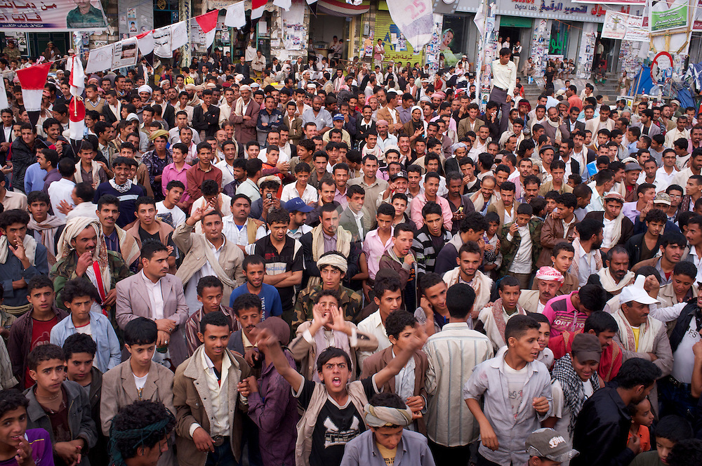 Turmoil in Yemen: ASIA, YEMEN, SANA, 20.06.2011: Anti-government protesters near Change Square in Sana, Yemen.