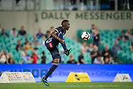 SYDNEY, AUSTRALIA - APRIL 06: Melbourne Victory defender Thomas Deng (14) controls the ball at round 24 of the Hyundai A-League Soccer between Sydney FC and Melbourne Victory on April 06, 2019, at The Sydney Cricket Ground in Sydney, Australia. (Photo by Speed Media/Icon Sportswire)