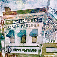 Digitally enhanced Annie's Parlour photo on the U of M campus in Minneapolis