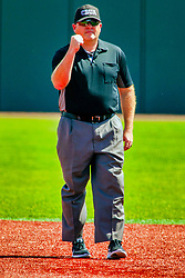 20 May 2019:  Tim Catton signals an out. Missouri Valley Conference Baseball Tournament - Southern Illinois Salukis v Illinois State Redbirds at Duffy Bass Field in Normal IL<br /> <br /> #MVCSPORTS