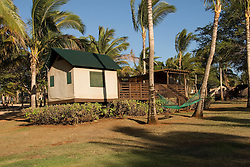 Hawaii: Molokai, eco-lodging at The Lodge at Moloki Ranch, at Kaupoa Beach, self-sufficient lodgings with own solar electricity, solar hot water, and composting toilet..Photo himolo199-71924..Photo copyright Lee Foster, www.fostertravel.com, lee@fostertravel.com, 510-549-2202