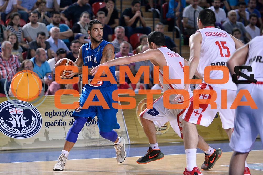 DESCRIZIONE : Tbilisi Nazionale Italia Uomini Tbilisi City Hall Cup Italia Italy Georgia Georgia<br /> GIOCATORE : Pietro Aradori<br /> CATEGORIA : penetrazione<br /> SQUADRA : Italia Italy<br /> EVENTO : Tbilisi City Hall Cup<br /> GARA : Italia Italy Georgia Georgia<br /> DATA : 16/08/2015<br /> SPORT : Pallacanestro<br /> AUTORE : Agenzia Ciamillo-Castoria/Max.Ceretti<br /> Galleria : FIP Nazionali 2015<br /> Fotonotizia : Tbilisi Nazionale Italia Uomini Tbilisi City Hall Cup Italia Italy Georgia Georgia