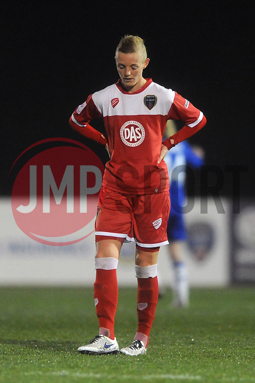 Bristol Academy Womens' Sophie Ingle cuts a dejected figure - Photo mandatory by-line: Dougie Allward/JMP - Mobile: 07966 386802 - 02/04/2015 - SPORT - Football - Bristol - SGS Wise Campus - BAWFC v Chelsea Ladies - Womens Super League