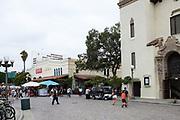 Tourists Walking Around At Olvera Street Los Angeles