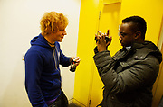 Ed Sheeran backstage at The Stratford Circus, image, 19th November 2010
