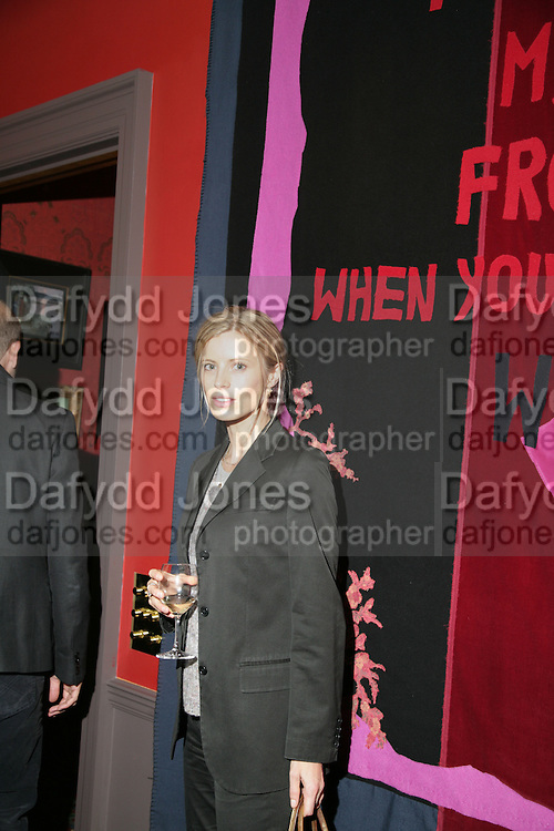 Laura Bailey, Party for Jean Pigozzi hosted by Ivor Braka to thank him for the loan exhibition 'Popular Painting' from Kinshasa'  at Tate Modern. Cadogan sq. London. 29 May 2007.  -DO NOT ARCHIVE-© Copyright Photograph by Dafydd Jones. 248 Clapham Rd. London SW9 0PZ. Tel 0207 820 0771. www.dafjones.com.