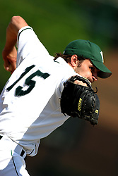 22 April 2006:  ....Titan pitcher Dave Dobosz.....In CCIW, Division 3 action, the Titans of Illinois Wesleyan capped the Auggies of Augustana College by a scor of 3-2 in game one of a double card afternoon.  Games were held at Jack Horenberger field on the campus of Illinois Wesleyan University in Bloomington, Illinois