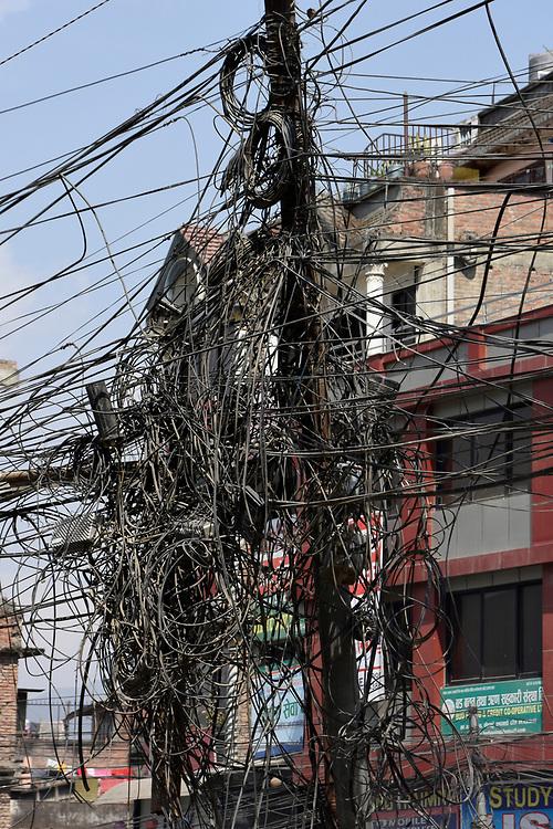 Typical Electrical wiring in Kathmandu, Nepal