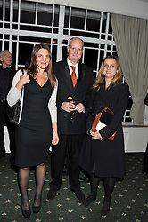 Left to right, NADINE PARK, TOM KENYON SLANEY and VICKKI NELSON at a dinner in aid of the charity Save The Rhino held at ZSL London Zoo, Regents Park, London NW1 on 16th November 2011.