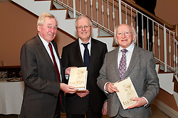 President Michael D. Higgins launched facsimile reproduction of Lia Fáil Irishleabhar Gaeilge Ollscoil na hÉireann, edited by Douglas Hyde...Thursday, 21 March 2013 - National University of Ireland, .49 Merrion Square at 5.30pm..President Michael D. Higgins today launched a facsimile reproduction of Lia Fáil Irishleabhar Gaeilge Ollscoil na hÉireann. This is a journal of modern Irish studies edited by Douglas Hyde when Professor of Irish in UCD and originally published by the NUI..The Chancellor of NUI, Dr Maurice Manning welcomed the President. Replying to the President, Professor Liam Mac Mathúna, editor of the new edition of Lia Fáil, remarked that: ?We are very honoured this evening that President Michael D. Higgins has joined us in recognising the outstanding contribution which Douglas Hyde made to Irish life over a period of more than sixty years, as he laboured tirelessly as a pioneering revivalist, as a dedicated scholar and as an active participant in public affairs?..Professor Mac Mathúna also noted that ?the care taken by the National University of Ireland with Lia Fáil, and the recognition accorded by President Michael D. Higgins to its editor and his predecessor, Dr Douglas Hyde, may be taken as being indicative of an ongoing national commitment to Irish language scholarship, which will continue to have its central forum in the pages of Éigse: A Journal of Irish Studies, the successor to Lia Fáil?. The latest edition of Éigse, edited by Professor Mac Mathúna will be published shortly..Note.Hyde was appointed first Professor of Modern Irish in UCD in 1909. In 1922 the Senate of the National University of Ireland accepted a recommendation from the Professors of Irish that the Dr. Adam Boyd Simpson bequest should be used to fund 'a journal of Irish research'. Hyde (Dubhglas de h-Íde, An Craoibhín) was appointed editor. The result was Lia Fáil, an Irish language journal.