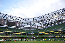 DUBLIN, REPUBLIC OF IRELAND - Wednesday, May 25, 2011: Wales take on Scotland in an almost empty stadium during the Carling Nations Cup match at the Aviva Stadium (Lansdowne Road). (Photo by David Rawcliffe/Propaganda)