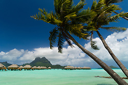 Bora-Bora, French Polynesia - 10/16/2006 - Pearl Beach Resort bungalows.(Photo by Sharpshooters/VWPics) *** Please Use Credit from Credit Field *** *** Please Use Credit from Credit Field ***