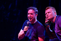 CHARLOTTE, USA - Saturday, July 21, 2018: Liverpool FC legend Robbie Fowler on stage at a Legends show at the Rooftop 102 in the Epicentre Charlotte ahead of a preseason International Champions Cup match between Borussia Dortmund and Liverpool FC in Charlotte. (Pic by David Rawcliffe/Propaganda)