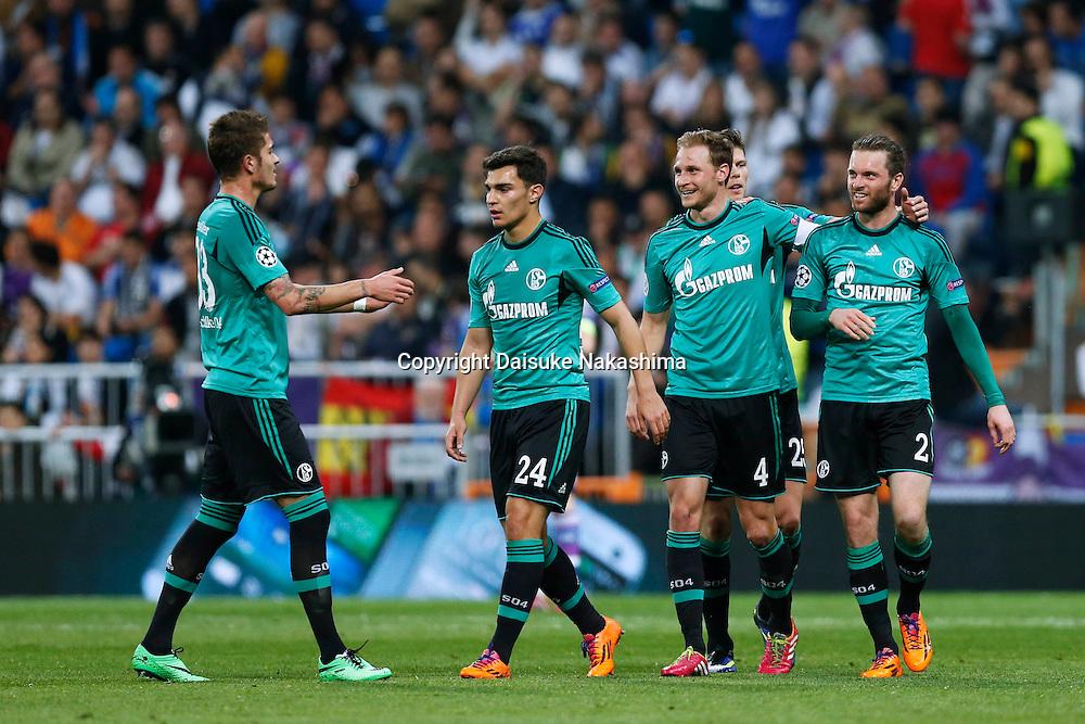 Schalke team group (Schalke), MARCH 18, 2014 - Football / Soccer : UEFA Champions League Round of 16, 2nd leg match between Real Madrid 3-1 FC Schalke 04 at Estadio Santiago Bernabeu in Madrid, Spain. (Photo by D.Nakashima/AFLO)
