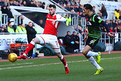 Anthony Forde of Rotherham United controls the ball - Mandatory by-line: Ryan Crockett/JMP - 24/02/2018 - FOOTBALL - Aesseal New York Stadium - Rotherham, England - Rotherham United v Doncaster Rovers - Sky Bet League One