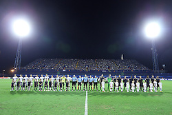 21.08.2013, Maksimir Stadion, Zagreb, CRO, UEFA CL Qualifikation, GNK Dinamo Zagreb vs FK Austria Wien, Hinspiel, im Bild Spieler&ouml;ffnung Mannschaftsaufstellung mit Kindern // during the UEFA Champions League, Qualification first leg match between GNK Dinamo Zagreb and FK Austria Wien at Maksimir Stadium in Zagreb, Croatia on 2013/08/21. EXPA Pictures &copy; 2013, PhotoCredit: EXPA/ Pixsell/ Goran Stanzl<br /> <br /> ***** ATTENTION - for AUT, SLO, SUI, ITA, FRA only *****
