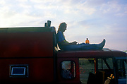 Man on truck, The Mother Festival, Somerset, 1995