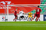 Timo Werner of Germany shots on goal during the UEFA European Under-17 Championship Group A semifinal match between Germany and Poland on May 13, 2012 in SRC Stozice, Ljubljana, Slovenia. Germany defeated Poland 1:0. (Photo by Matic Klansek Velej / Sportida.com)