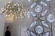 Tord Boontje / Swarovski presents 'Luminous Reflections' including a chandelier with the world's first-ever unfaceted crystal components  - The Design Frontiers exhibition at Somerset house, part of the London Design Festival.