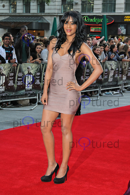 LONDON - MAY 30: Tiana Benjamin attends the UK film premiere of 'Ill Manors' at the Empire Cinema, Leicester Square, London, UK. May 30, 2012. (Photo by Richard Goldschmidt)