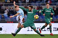 Ciro Immobile Lazio, German Pezzella Fiorentina <br /> Roma 26-11-2017 Stadio Olimpico Serie A 2017/2018 Lazio - Fiorentina Foto Andrea Staccioli / Insidefoto