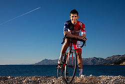 Gasper Katrasnik during official photo session of Continental Team - Adria Mobil Cycling before new season 2020, on January 30, 2020 in Makarska, Croatia. Photo by Vid Ponikvar / Sportida