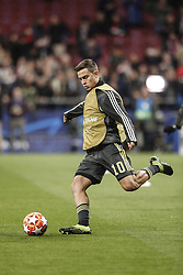 February 20, 2019 - Madrid, Spain - Paulo Dybala (Juventus)  Pre-match warm-up   UCL Champions League match between Atletico de Madrid vs Juventus at the Wanda Metropolitano stadium in Madrid, Spain, February 20, 2019  (Credit Image: © Enrique De La Fuente/NurPhoto via ZUMA Press)