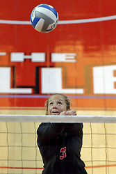 23 September 2017:  Courtney Pence during a college women's volleyball match between the Salukis of Southern Illinois and the Illinois State Redbirds at Redbird Arena in Normal IL (Photo by Alan Look)