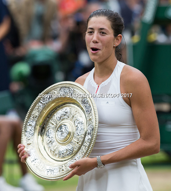 GARBI&Ntilde;E MUGURUZA (ESP), Endspiel, Final<br /> <br /> Tennis - Wimbledon 2016 - Grand Slam ITF / ATP / WTA -  AELTC - London -  - Great Britain  - 15 July 2017.