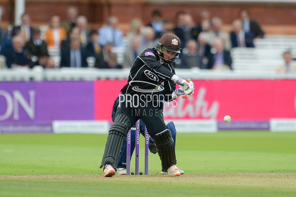 Sam Curran of Surrey batting during the Royal London One Day Cup match between Warwickshire County Cricket Club and Surrey County Cricket Club at Lord's Cricket Ground, St John's Wood, United Kingdom on 17 September 2016. Photo by David Vokes.