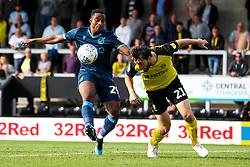 John-Joe O'Toole of Burton Albion beats Victor Adeboyejo of Bristol Rovers to the ball - Mandatory by-line: Robbie Stephenson/JMP - 31/08/2019 - FOOTBALL - Pirelli Stadium - Burton upon Trent, England - Burton Albion v Bristol Rovers - Sky Bet League One