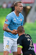 MELBOURNE, VIC - JANUARY 22: Melbourne City defender Ritchie de Laet (2) helps up Western Sydney Wanderers defender Tarek Elrich (21) at the Hyundai A-League Round 15 soccer match between Melbourne City FC and Western Sydney Wanderers at AAMI Park in VIC, Australia 22 January 2019. Image by (Speed Media/Icon Sportswire)