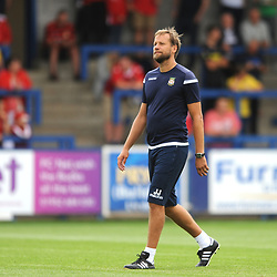 21/7/2018 - Goalkeeping coach Jussi Jaskelainen during the pre season friendly fixture between AFC Telford United and Wrexham at the New Bucks Head Stadium, Telford.<br /> <br /> Pic: Mike Sheridan/Newsquest NW<br /> MS173-2018