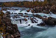 Long exosure of waterfall at Great Falls National Park