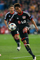 Bayer 04 Leverkusen´s Wendell during the UEFA Champions League round of 16 second leg match between Atletico de Madrid and Bayer 04 Leverkusen at Vicente Calderon stadium in Madrid, Spain. March 17, 2015. (ALTERPHOTOS/Victor Blanco)