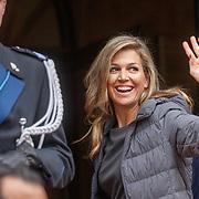 NLD/Amsterdam/201804245 - 20180424 koninklijke familie bij Corps Diplomatique diner 2018, aankomst Maxima
