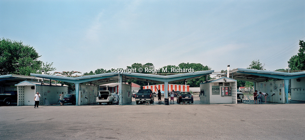 Car wash on the 4th of July, 2006. Photograph by Roger M. Richards