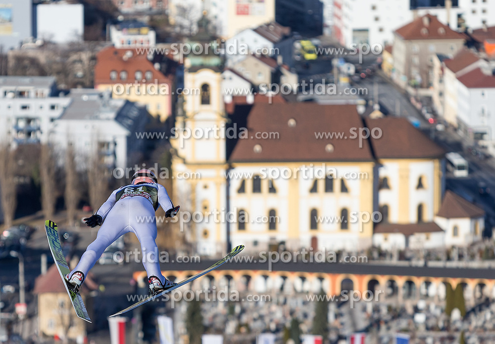 03.01.2017, Bergiselschanze, Innsbruck, AUT, FIS Weltcup Ski Sprung, Vierschanzentournee, Innsbruck, Training, im Bild Andreas Kofler (AUT) // Andreas Kofler of Austria during his Practice Jump for the Four Hills Tournament of FIS Ski Jumping World Cup at the Bergiselschanze in Innsbruck, Austria on 2017/01/03. EXPA Pictures © 2017, PhotoCredit: EXPA/ Jakob Gruber