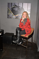Erica Bergsmeds at an exhibition of photographs by Erica Bergsmeds held at The Den, 100 Wardour Street, London England. 19 January 2017.