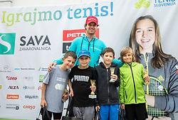 Blaz Kavcic, Igrajmo tenis, Teniska olimpijada 2019, on May 19, 2019, in BTC, Ljubljana, Slovenia. Photo by Vid Ponikvar / Sportida