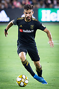 LAFC forward Diego Rossi (9) moves the ball during an MLS soccer match against the Minnesota United. Minnesota United defeated theLAFC 2-0 on Sunday Sept. 1 2019, in Los Angeles. (Ed Ruvalcaba/Image of Sport)