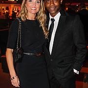 NLD/Amsterdam/20121013- LAF Fair 2012 VIP Night, Regi Blinker en partner Merije van der Wind