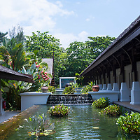 A tranquil pool near reception at Tanjong Jara Resort, Terengganu, Malaysia.