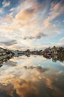 South Shore Lagoon Sunset Reflection, Alameda, California